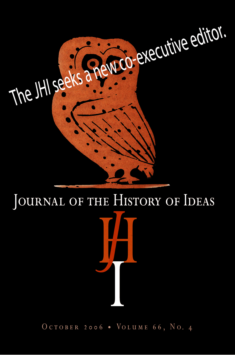 Journal of the History of Ideas January 2021 Volume 82.1